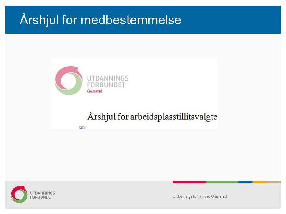 Årshjul for medbestemmelse