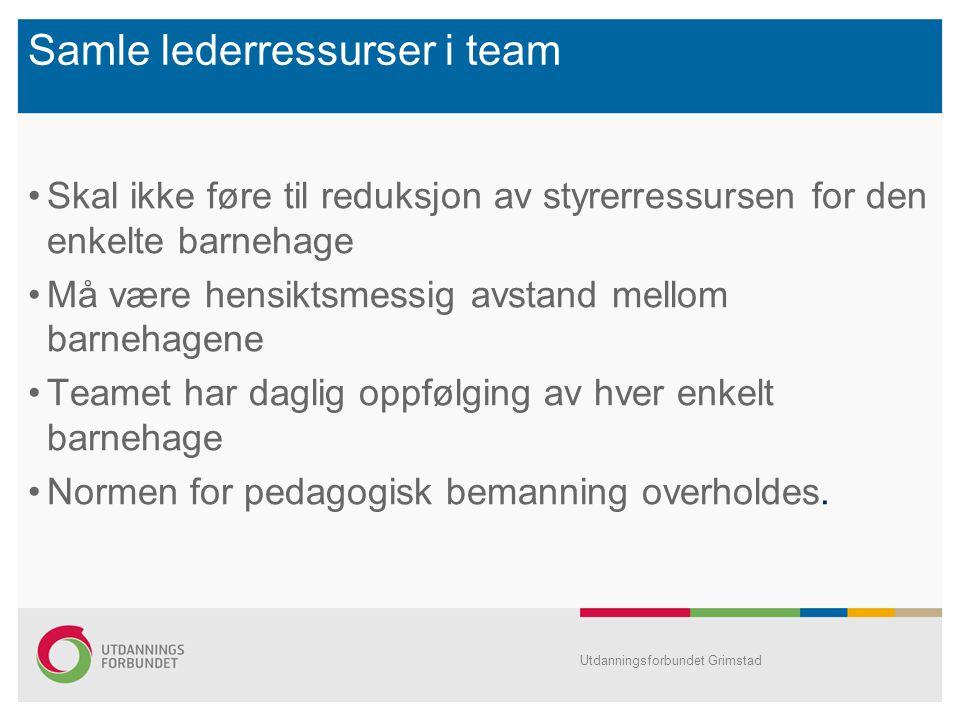 Samle lederressurser i team
