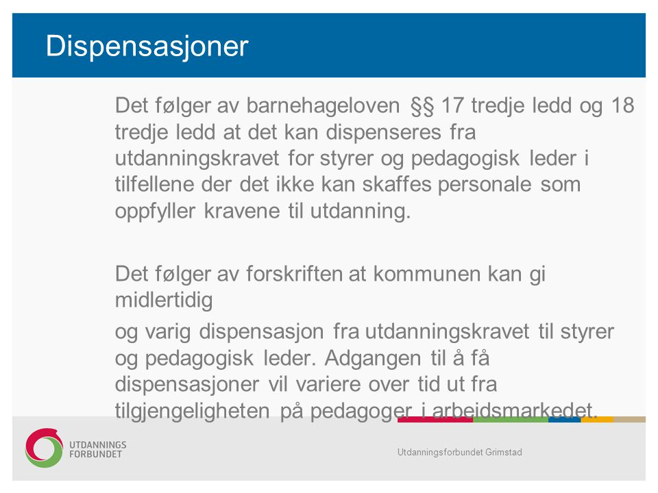 Dispensasjoner