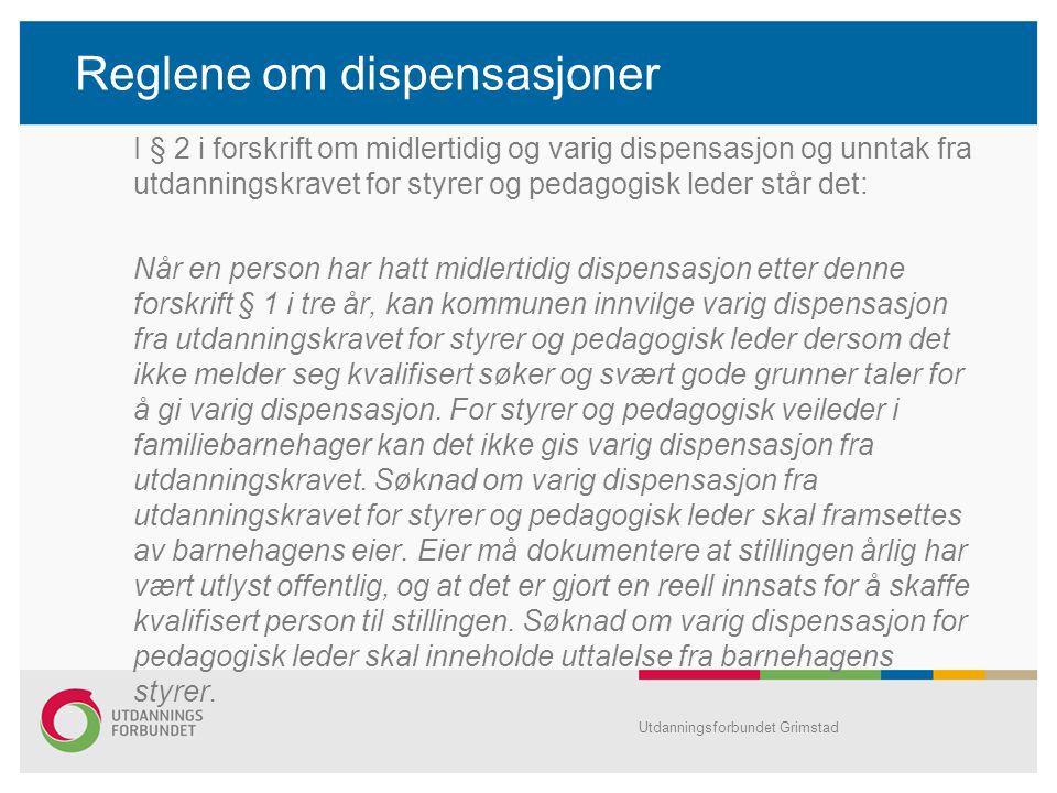 Reglene om dispensasjoner