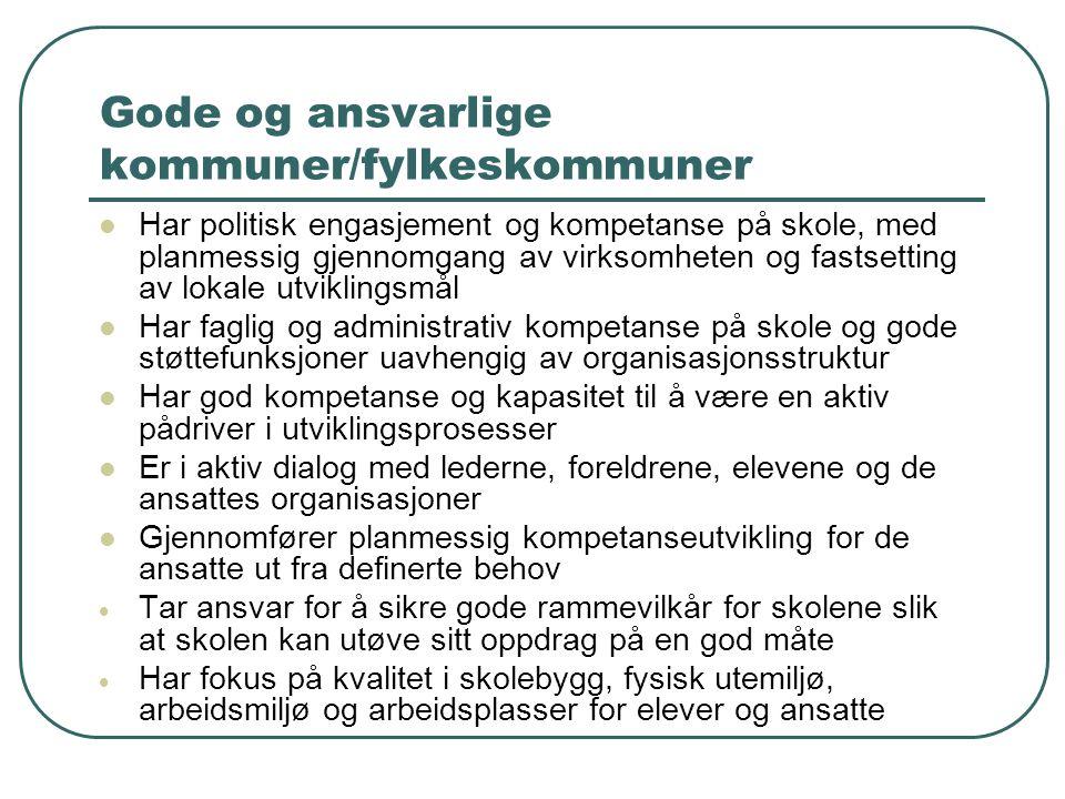Gode og ansvarlige kommuner/fylkeskommuner