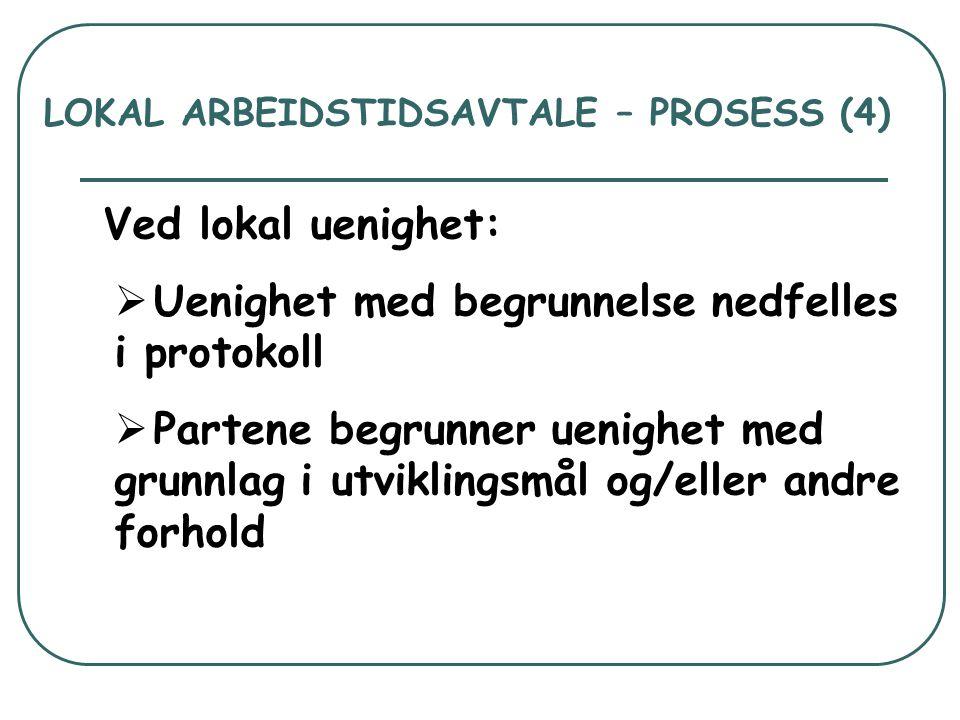 LOKAL ARBEIDSTIDSAVTALE – PROSESS (4)