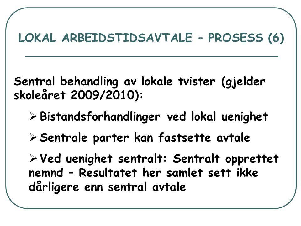 LOKAL ARBEIDSTIDSAVTALE – PROSESS (6)