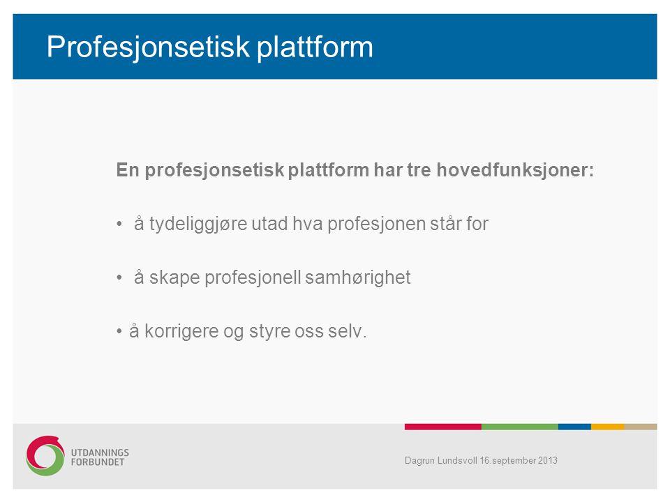 Profesjonsetisk plattform
