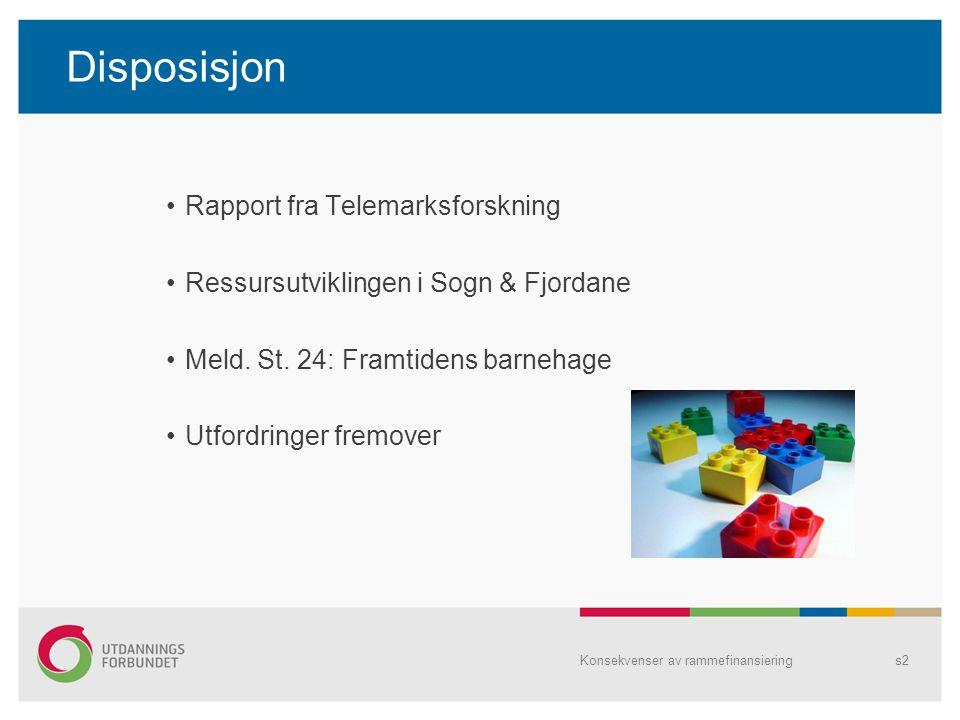 Disposisjon Rapport fra Telemarksforskning