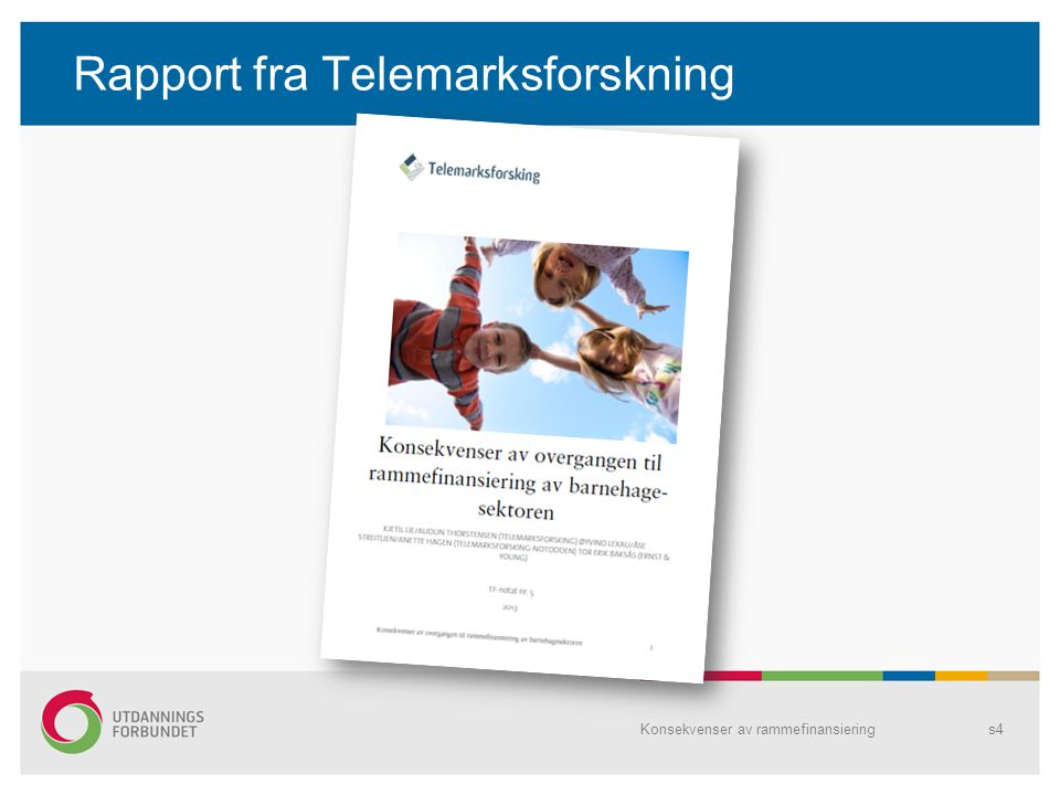 Rapport fra Telemarksforskning