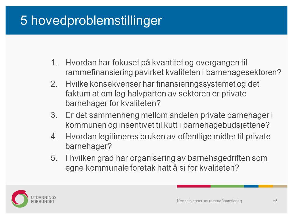 5 hovedproblemstillinger