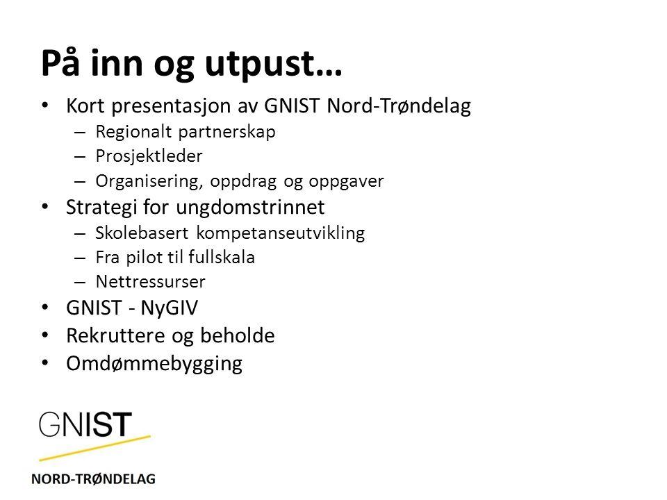 På inn og utpust… Kort presentasjon av GNIST Nord-Trøndelag