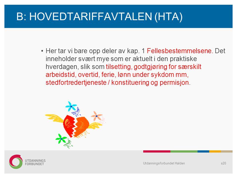B: HOVEDTARIFFAVTALEN (HTA)