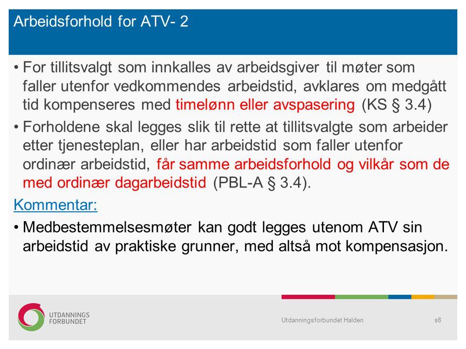 Arbeidsforhold for ATV- 2