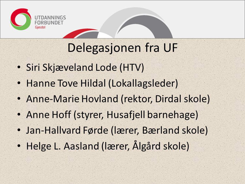 Delegasjonen fra UF Siri Skjæveland Lode (HTV)