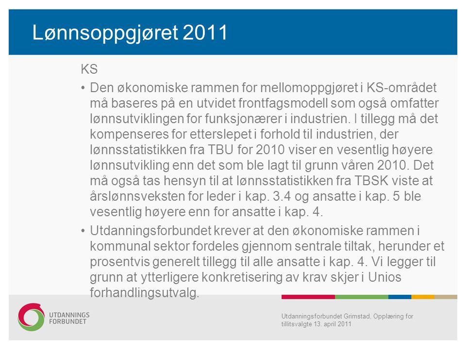 Lønnsoppgjøret 2011 KS.