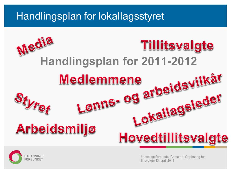 Handlingsplan for lokallagsstyret