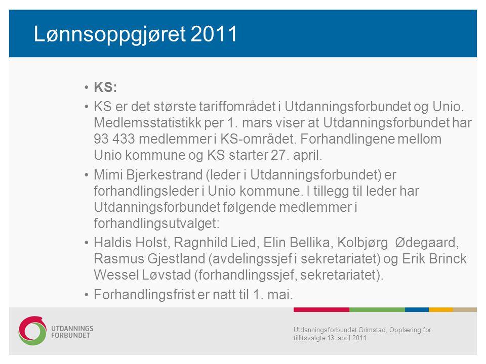 Lønnsoppgjøret 2011 KS: