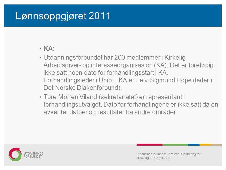 Lønnsoppgjøret 2011 KA: