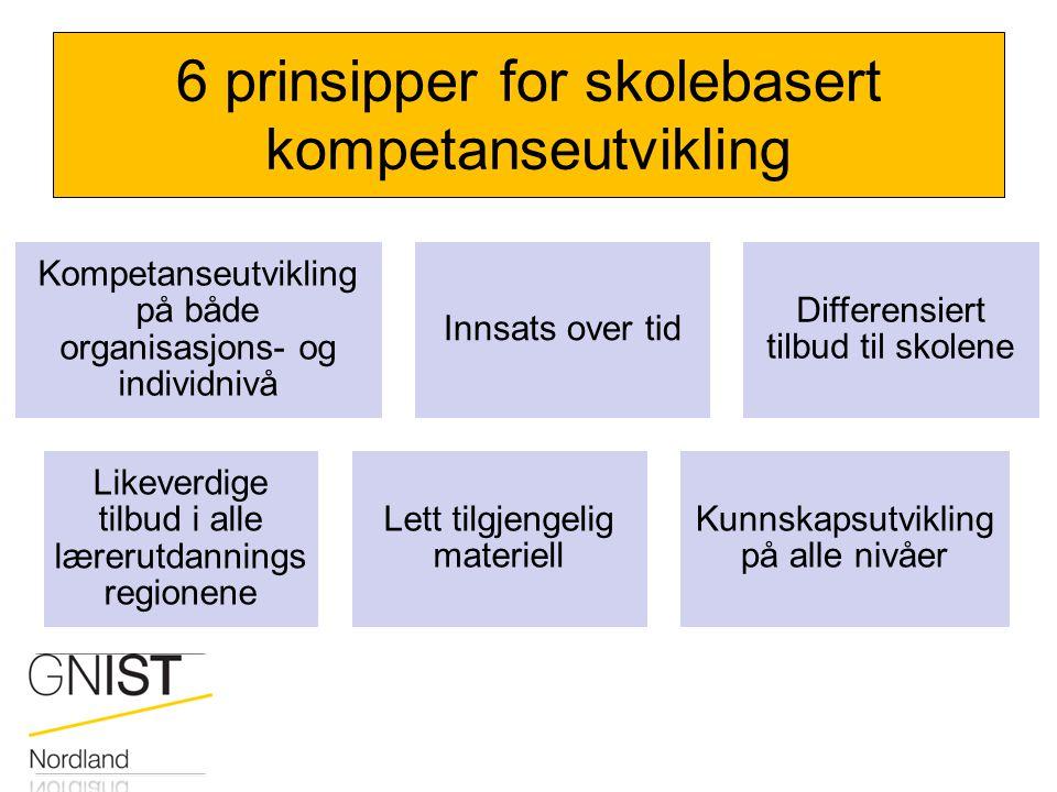 6 prinsipper for skolebasert kompetanseutvikling