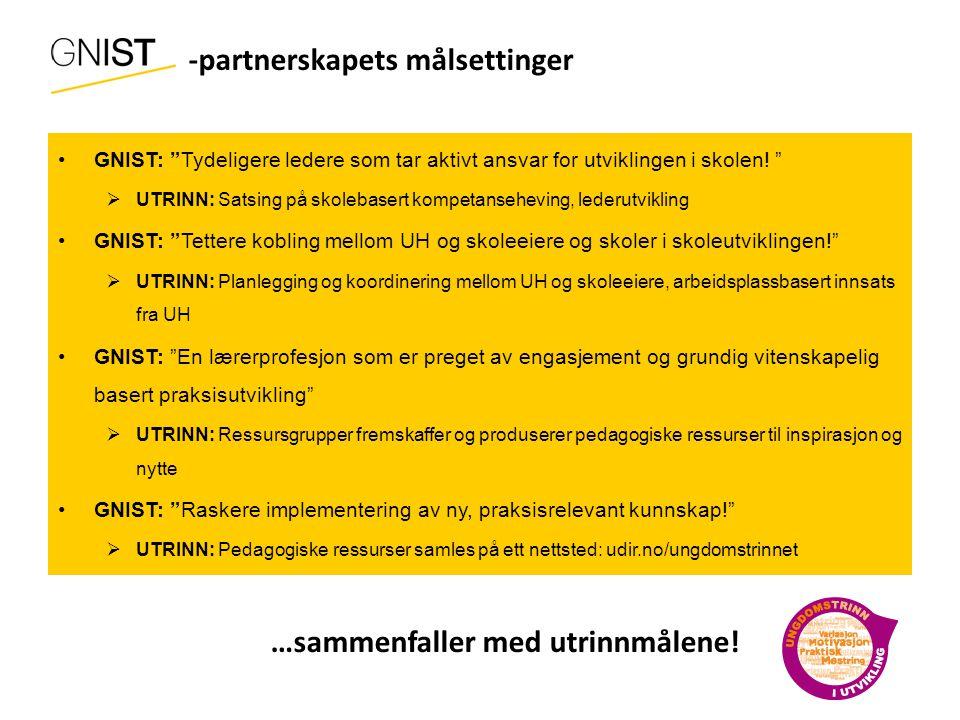 GNIST- -partnerskapets målsettinger