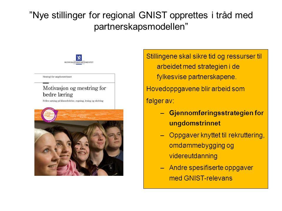 Nye stillinger for regional GNIST opprettes i tråd med partnerskapsmodellen