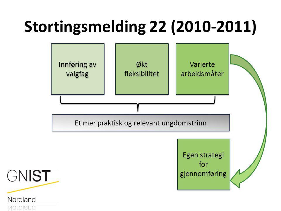 Stortingsmelding 22 (2010-2011) Innføring av valgfag Økt fleksibilitet