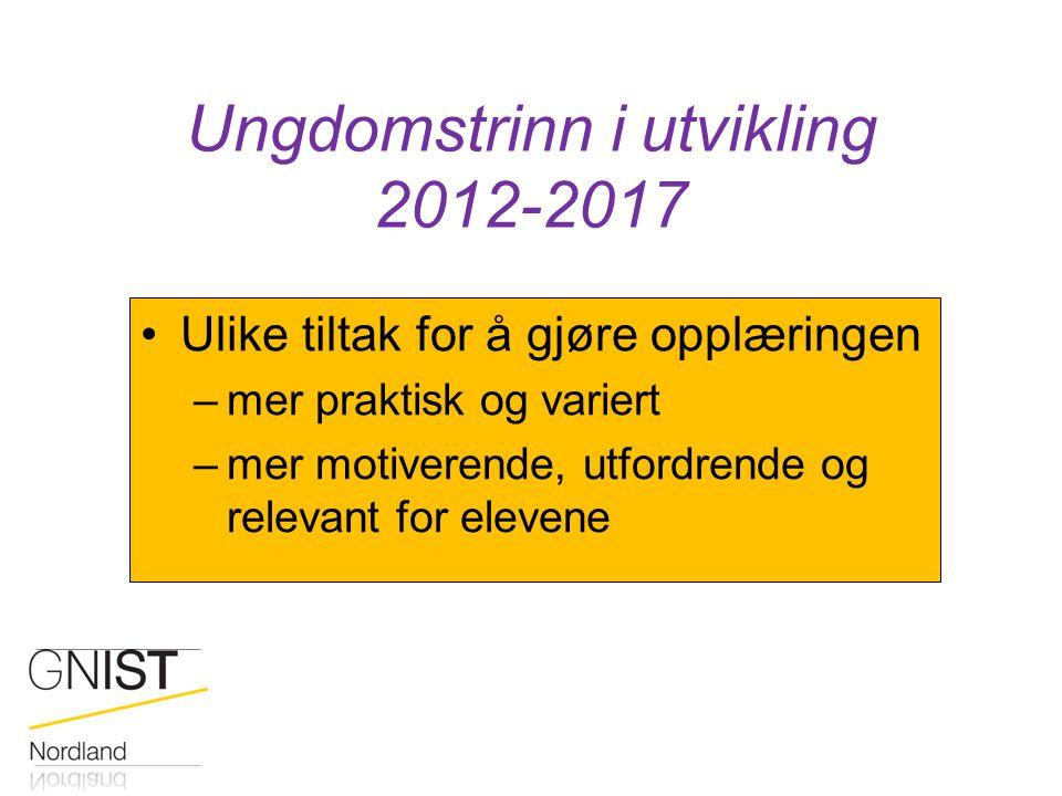 Ungdomstrinn i utvikling 2012-2017