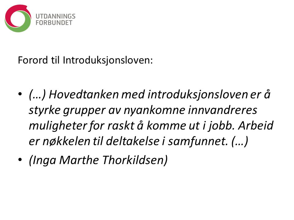 (Inga Marthe Thorkildsen)