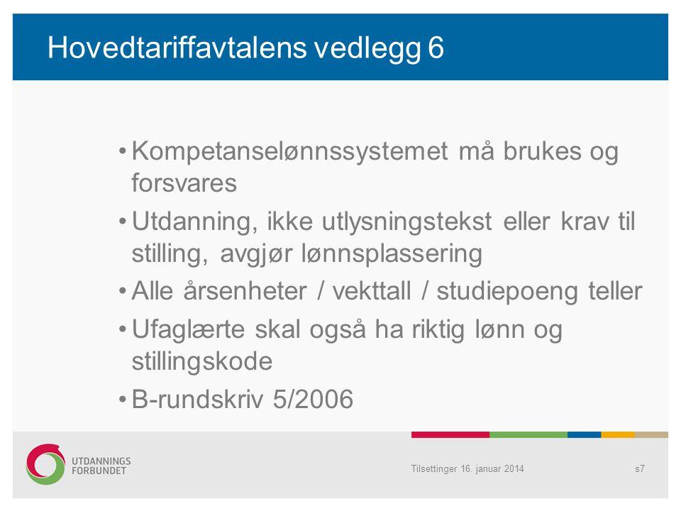 Hovedtariffavtalens vedlegg 6