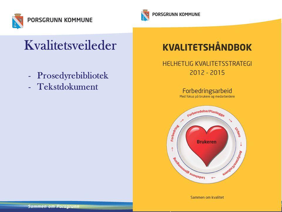 Kvalitetsveileder Prosedyrebibliotek Tekstdokument