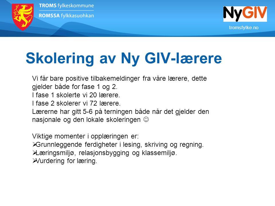 Skolering av Ny GIV-lærere