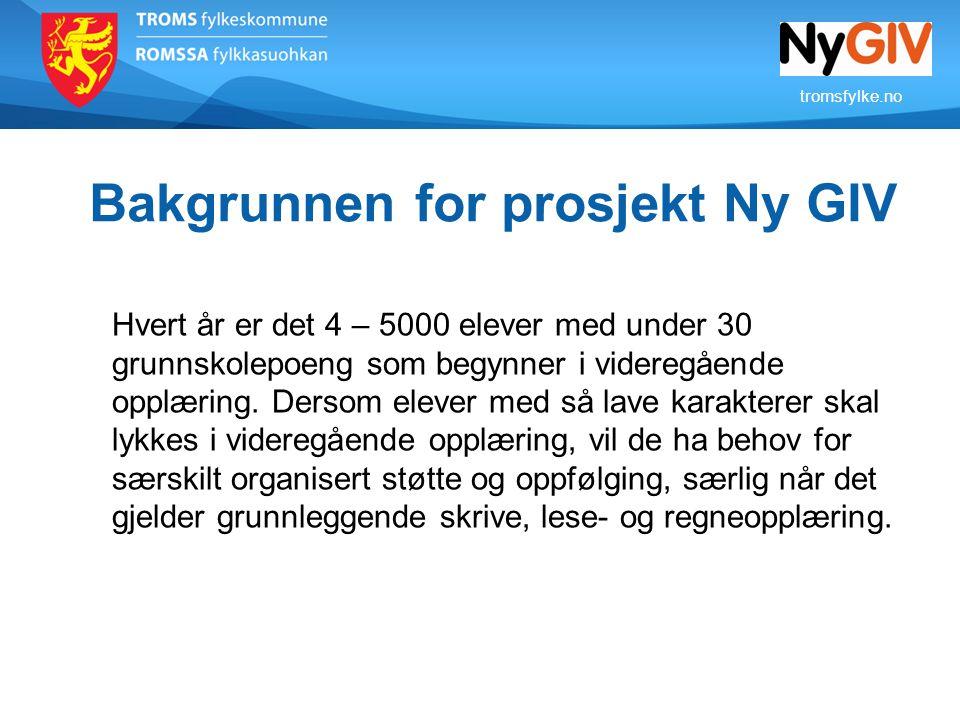 Bakgrunnen for prosjekt Ny GIV