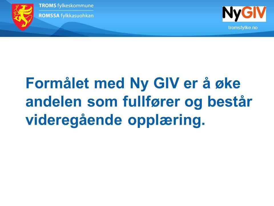 Formålet med Ny GIV er å øke andelen som fullfører og består videregående opplæring.