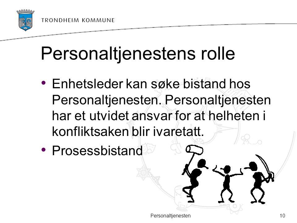 Personaltjenestens rolle
