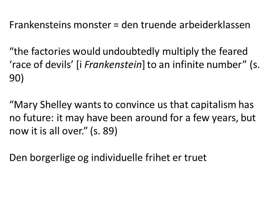 Frankensteins monster = den truende arbeiderklassen