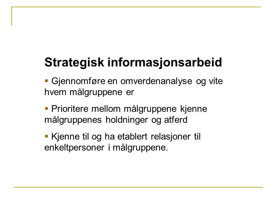 Strategisk informasjonsarbeid