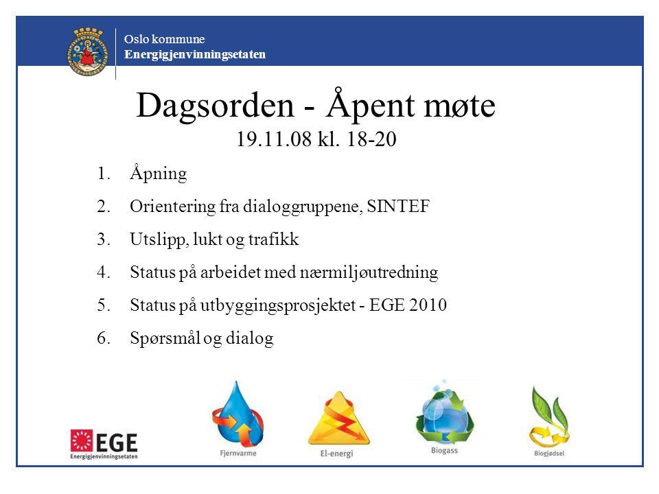 Dagsorden - Åpent møte 19.11.08 kl. 18-20