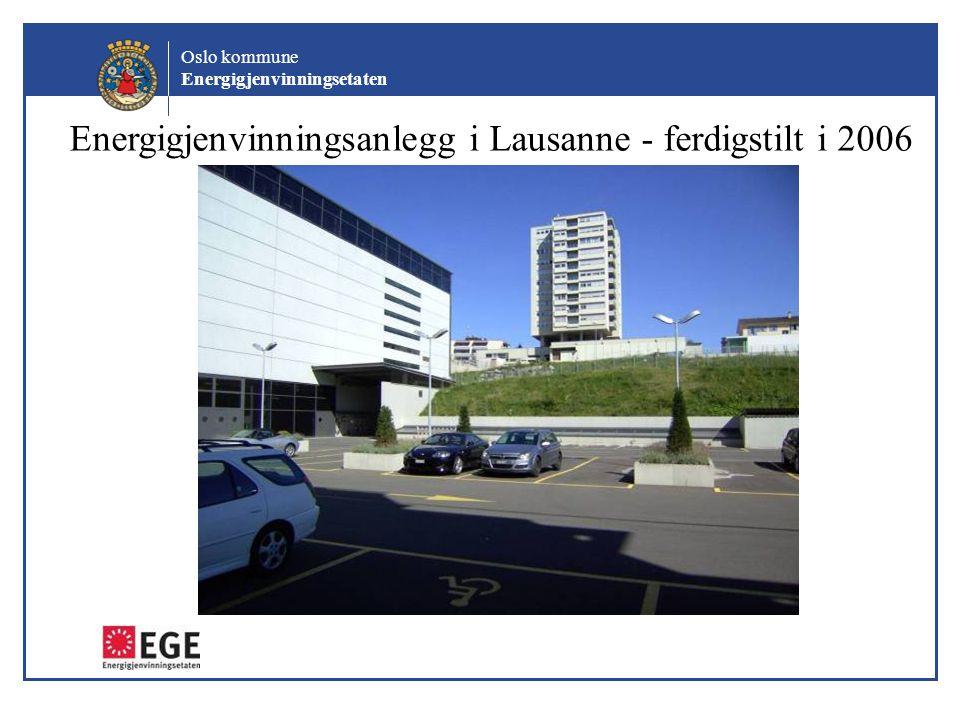 Energigjenvinningsanlegg i Lausanne - ferdigstilt i 2006