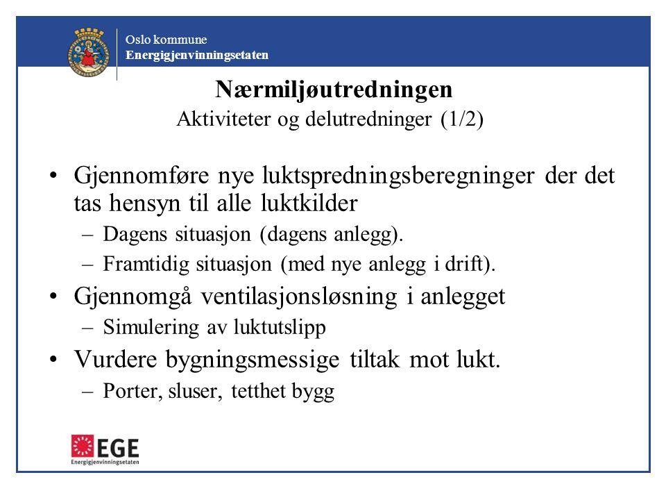 Nærmiljøutredningen Aktiviteter og delutredninger (1/2)