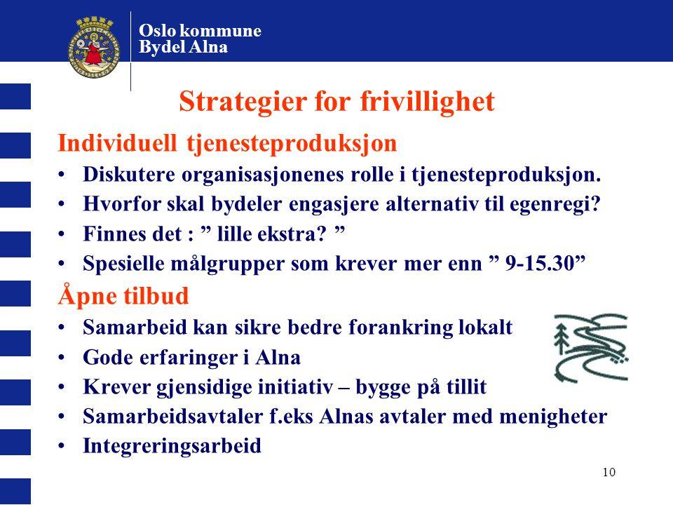 Strategier for frivillighet