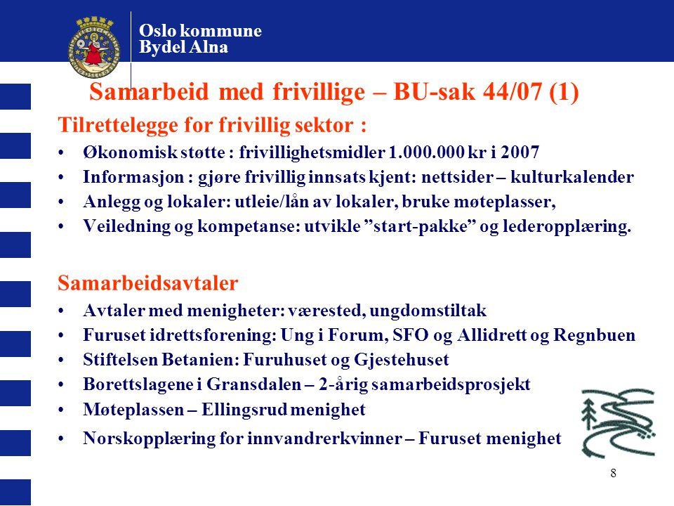 Samarbeid med frivillige – BU-sak 44/07 (1)