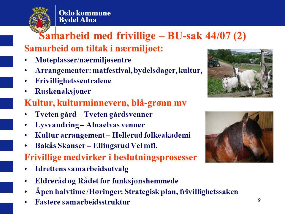 Samarbeid med frivillige – BU-sak 44/07 (2)