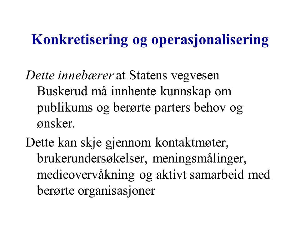 Konkretisering og operasjonalisering