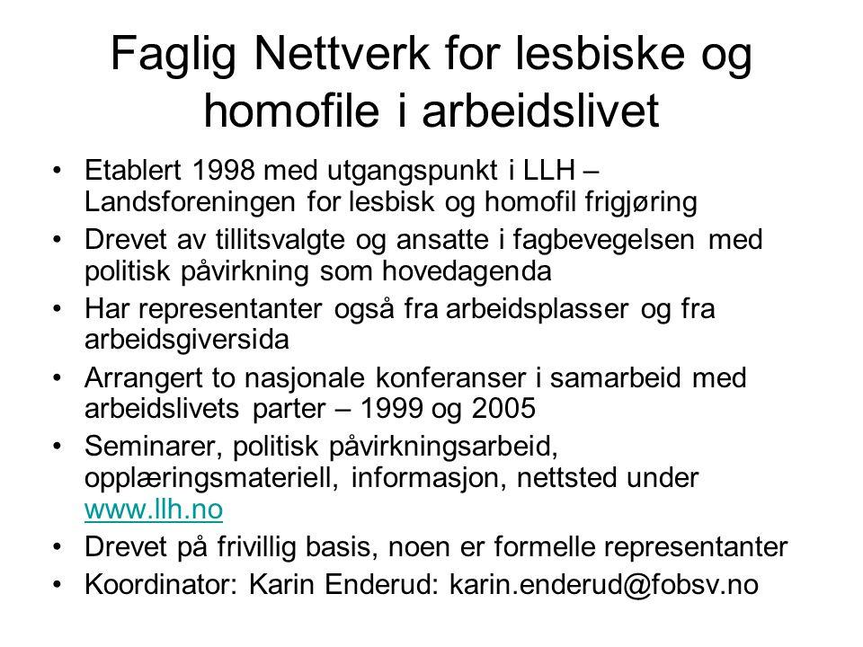 Faglig Nettverk for lesbiske og homofile i arbeidslivet