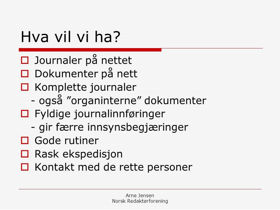 Arne Jensen Norsk Redaktørforening