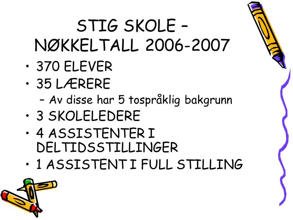 STIG SKOLE – NØKKELTALL 2006-2007