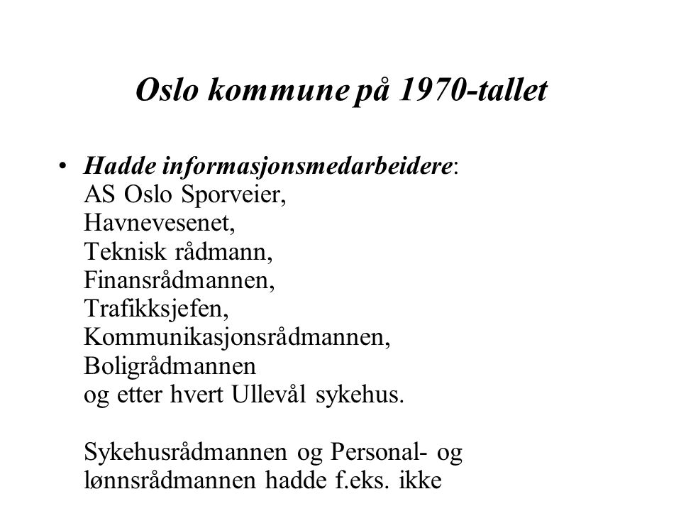 Oslo kommune på 1970-tallet