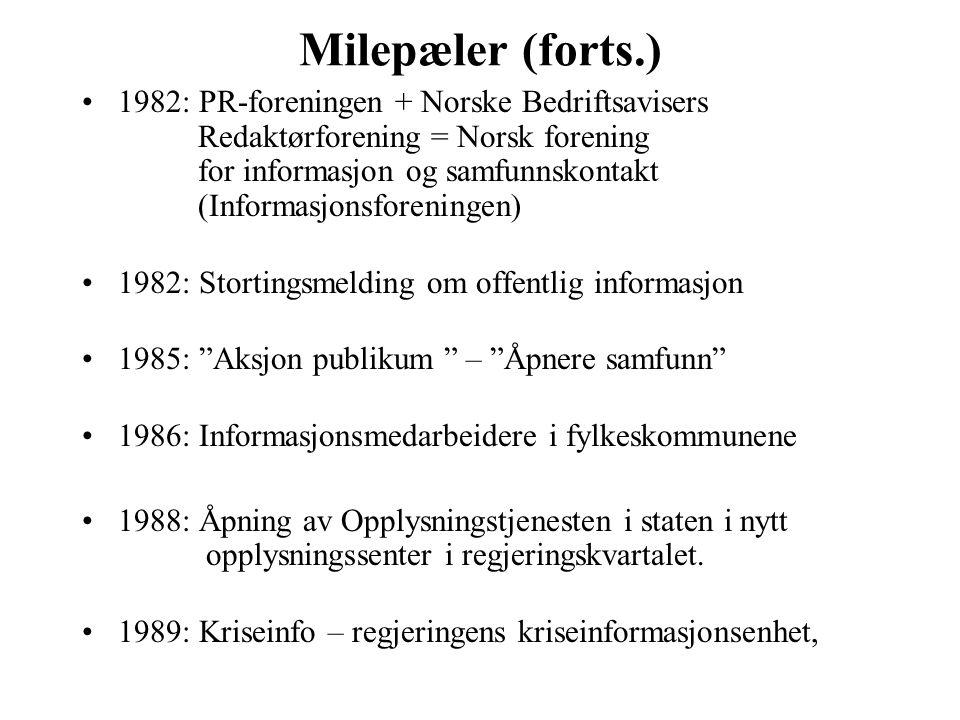 Milepæler (forts.)