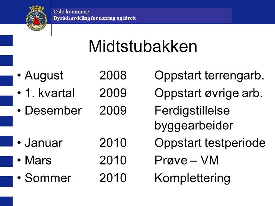 Midtstubakken August 2008 Oppstart terrengarb.