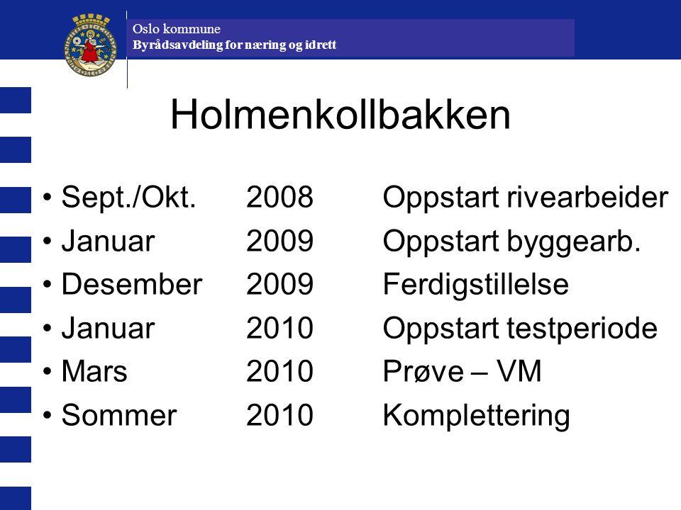 Holmenkollbakken Sept./Okt. 2008 Oppstart rivearbeider