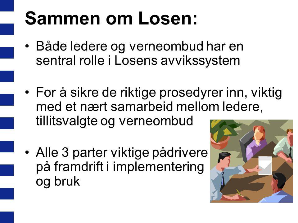 Sammen om Losen: Både ledere og verneombud har en sentral rolle i Losens avvikssystem.