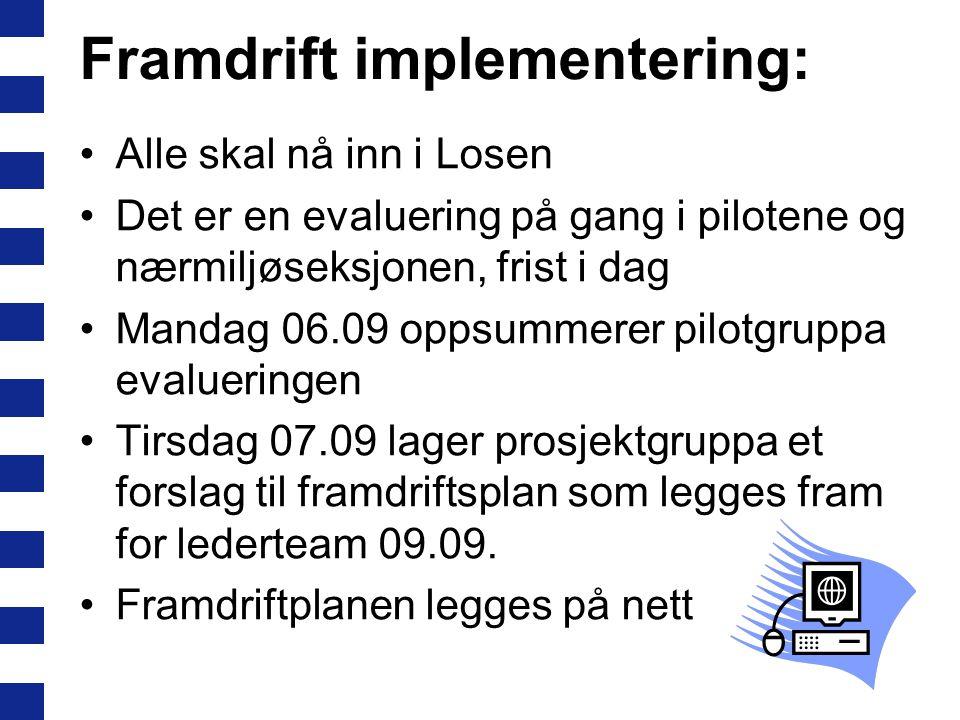 Framdrift implementering: