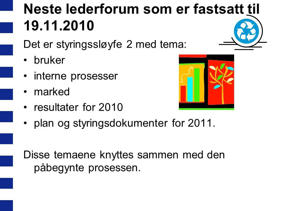 Neste lederforum som er fastsatt til 19.11.2010